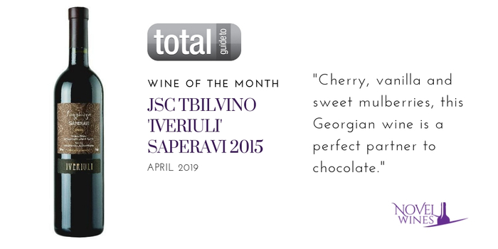 Wine of the Month: Jsc Tbilvino 'Iveriuli' Saperavi 2015, Georgia