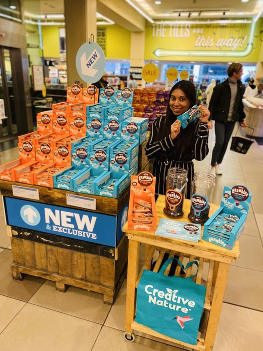 Food entrepreneur Julianne Ponan launches her innovative low sugar  allergy free 'Gnawbles' into John Lewis's flagship Oxford Street store in London