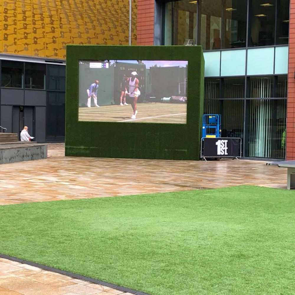 There's A Big Screen Showing Wimbledon Live in Manchester